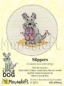 Mouseloft Slippers Little Dog cross stitch kit